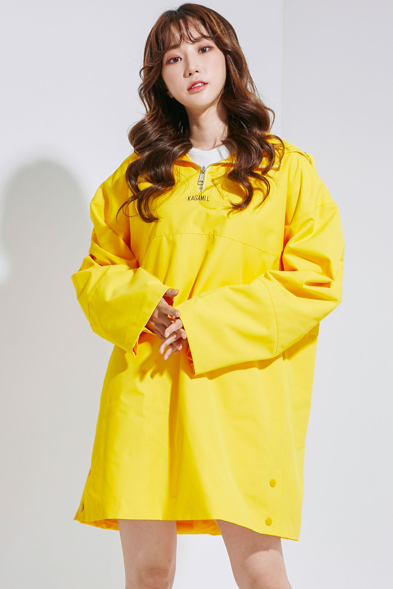 Oversize Anorack Hoodie Onepiece Yellow